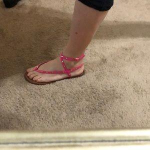 Hot Pink Studded Aldo Sandler's